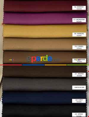 Salon Fon Perde - Blackout Düz Fon Perde Karartma Perde Güneşlik - Çok Renkli 1. Kalite