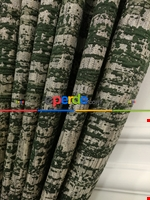 Modern Desenli Jakarlı Fon Perde- Yeşil-kum Beji Yeşil - Krem