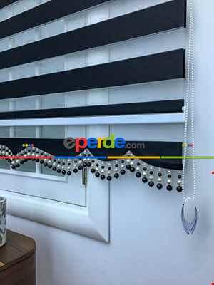 Salon - Zebra Perde - Düz Zebra Perde- Siyah