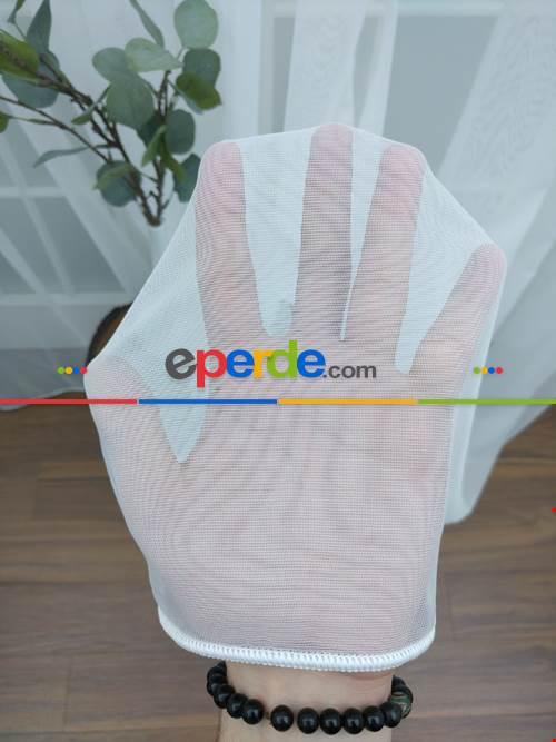 Dönergücü - Pırıltı Zemin Tül Perde Beyaz Renk 1.kalite