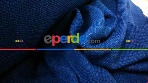 Mavi Hasır Fon Perde