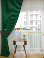 Gri Koyu Düz Fon Perde Koyu Gri Dökümlü Birinci Kalite 300 Cm Geniş En Daha Hesaplı Yeşil Koyu Yeşil