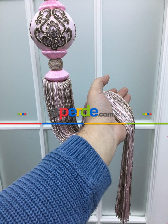 Perde Sarkıtı - Pembe - Kahve Renk