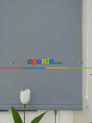 Yıkanabilir Pvc Mat Stor Perde - Gri 1. Kalite- Gri-Füme-Antrasit