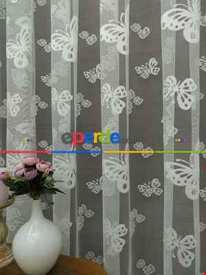 Çocuk Odası Tül Perde - Kelebek Tül Perde- Ekru