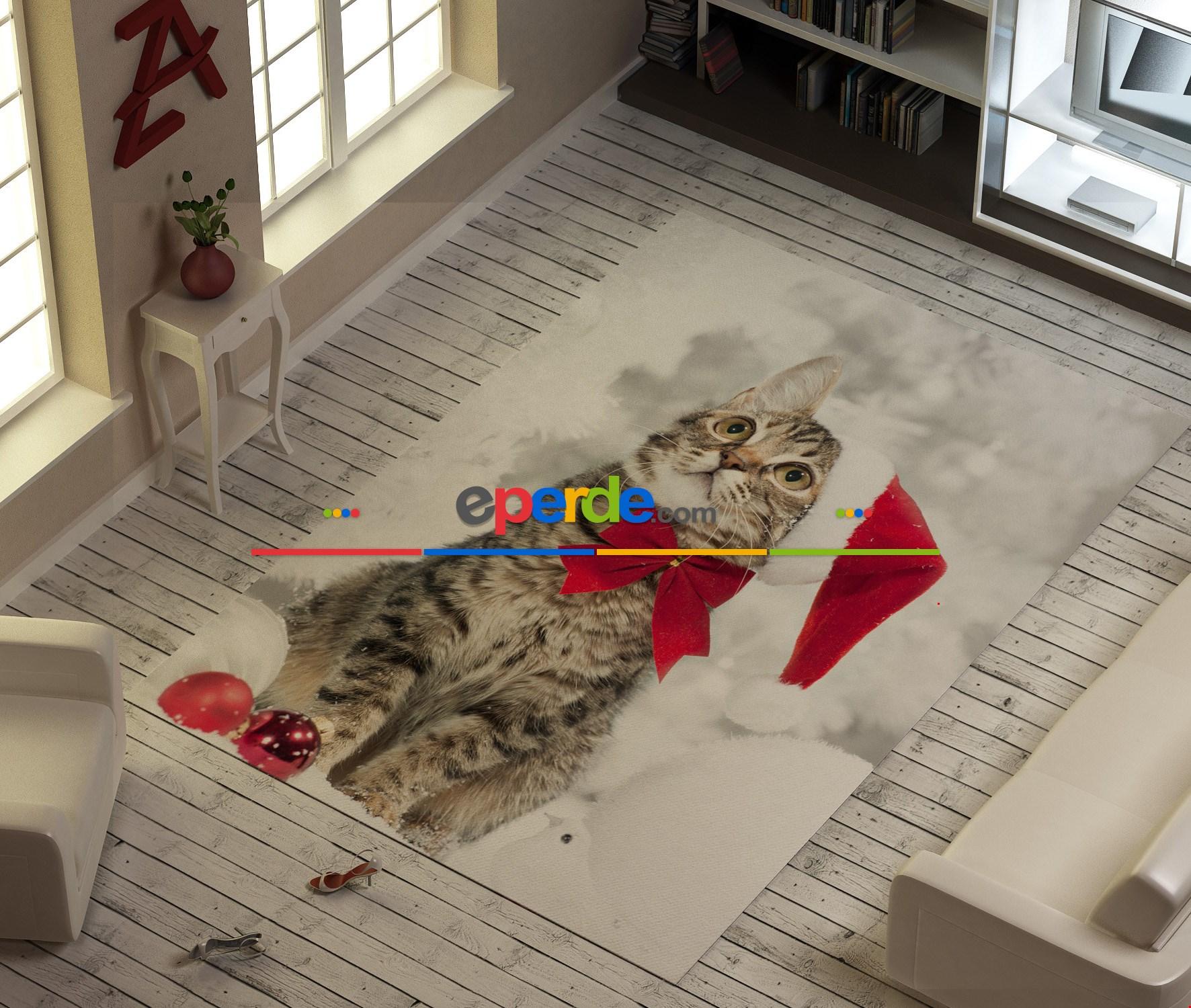 Şirin Kedicik Baskılı Halı