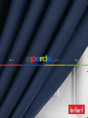 Brillant Karartma Blackout Koyu Mavi Renk Fon Perde- Mavi Koyu