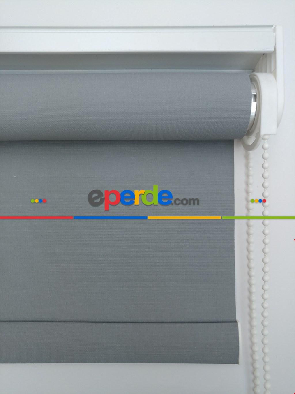 Yıkanabilir Pvc Mat Lüx Stor Perde -koyu Gri 1. Kalite- Gri-füme-antrasit