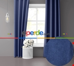 Sis Mavisi Ada Fon Perde 51 Renk Seçeneği Perle Home Daily Series Diğer