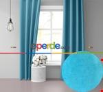 Uzay Mavisi Ada Fon Perde 51 Renk Seçeneği 150x260 Perle Home Daily Series Mavi