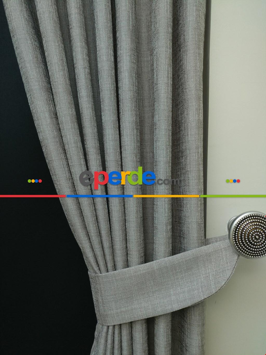 Salon Salon Pudra Grimsi Desenli Jakar Fon Perde (geniş En:280 Kumaş)- Pudra 70cm X 255cm