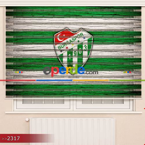 Bursaspor Özel Poster Baskılı Zebra Perde