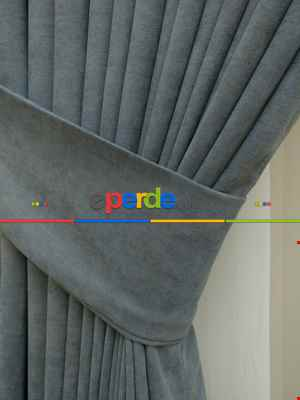 Saon Perdesi - Gri Düz Sade Fon Perde ( En 150cm Dökümlü Fon )- Gri-Füme-Antrasit