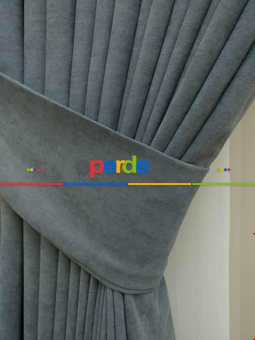Gri Düz Sade Fon Perde ( En 150cm Dökümlü Fon )