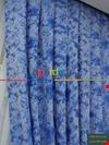 Mavi - Katyonik Jakar Fon Perde 180cm En