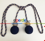 Çift Renk - Fon Perde Bağı - Braçol Modelleri Lacivert - Bej - Vizon Rengi