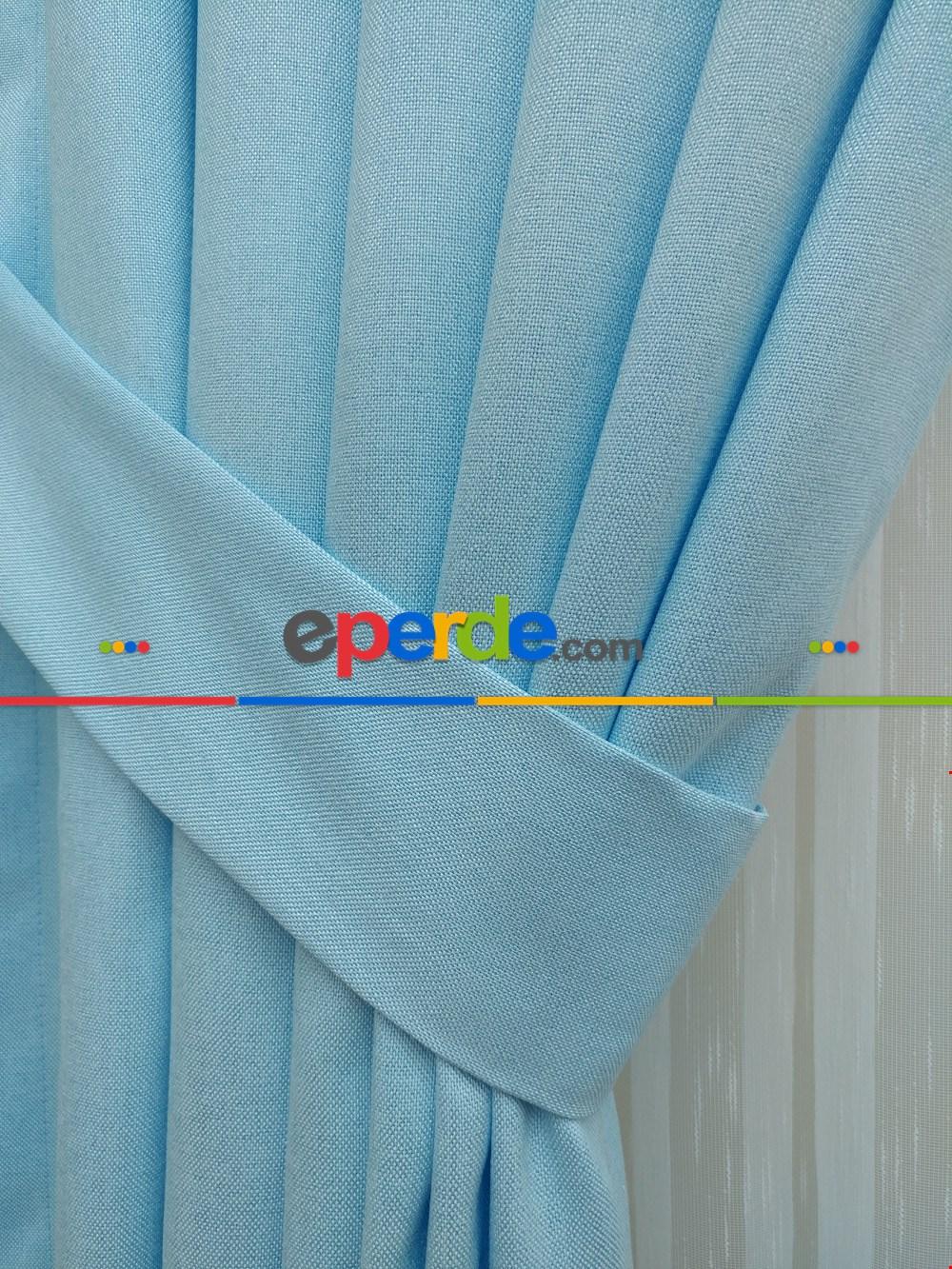 Kız Çocuk Odası Fon Perde Sık Doku Yüksek Gramajlı 2018 (ürün Memnuniyet Garantili) Mavi Açık