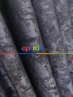 Açık Mavi Renk Jakar Desenli Fon Perde- Mavi Açık-mavi Grimsi Lila