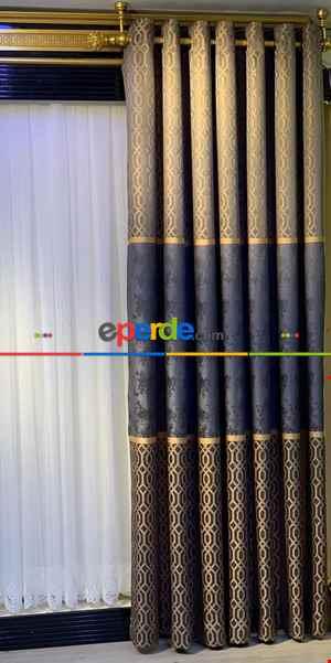 Rustik Perdesi Decoring Perde Yeni Moda Kuşgözü Rustik Fon Perde 100cm X 275cm