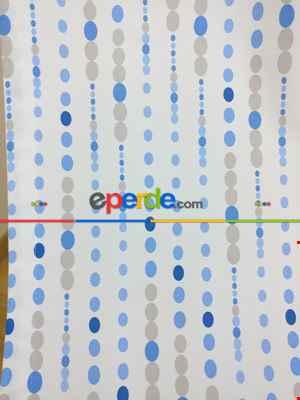 Mavi & Gri Puanlı Erkek Bebek & Çocuk Odası Fon Perde Modelleri- Lacivert-Mavi-Gri-Füme-Antrasit