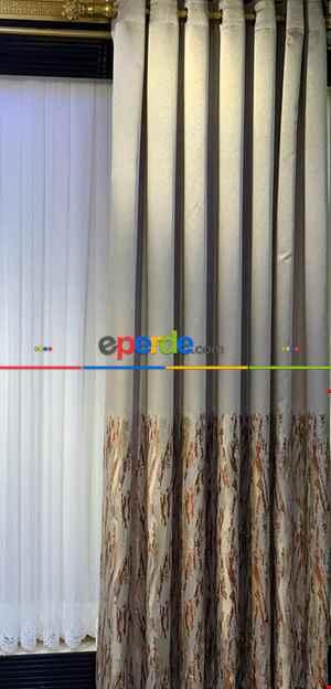 Rustik Perdesi Decoring Perde Yeni Moda Kuşgözü Rustik Fon Perde 100cm X 270cm