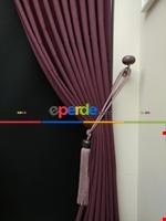 Gri Düz Renk Dökümlü Fon Perde (150)- Gri Gül Kurusu