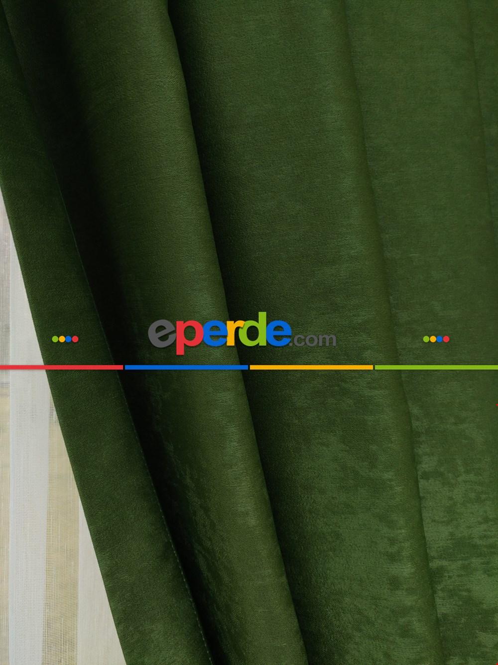 Soft Çimen Yeşili Fon Perde (180)- Yeşil Koyu Yeşil