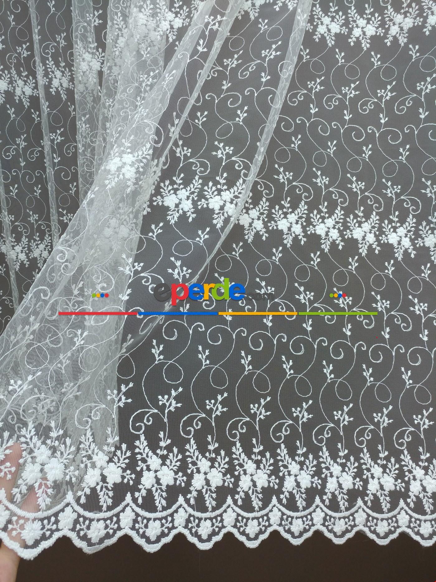 Brode İşlemeli Tül Perde Desen 611