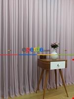 Toz Pembe Ekru Degrade Geçişli Düz Tül Perde- Pembe-Pembe Açık-Ekru Pembe - Ekru