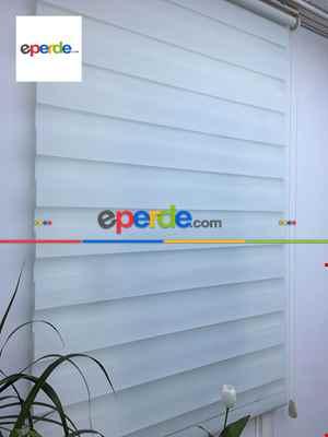 Salon Zebra - Rakipsiz Fiyat Son İndirim!!!Indirimli !!! Beyaz Düz Zebra Perde- Beyaz