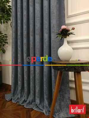 Brillant Jakar Fon Gri Renk Düz Fon Perde 180cm- Gri-füme-antrasit