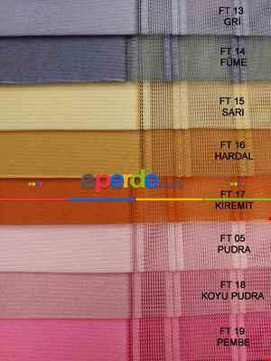 Salon - 1. Kalite Çizgili Tül Dikey Zebra Perde Ft33 Parlament - Ft30 Lila- Lacivert