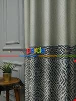 Modern Pano Fon Perde Bantlı Çift Renk - 501- Kiremit Rengi-kum Beji Lacivert - Krem
