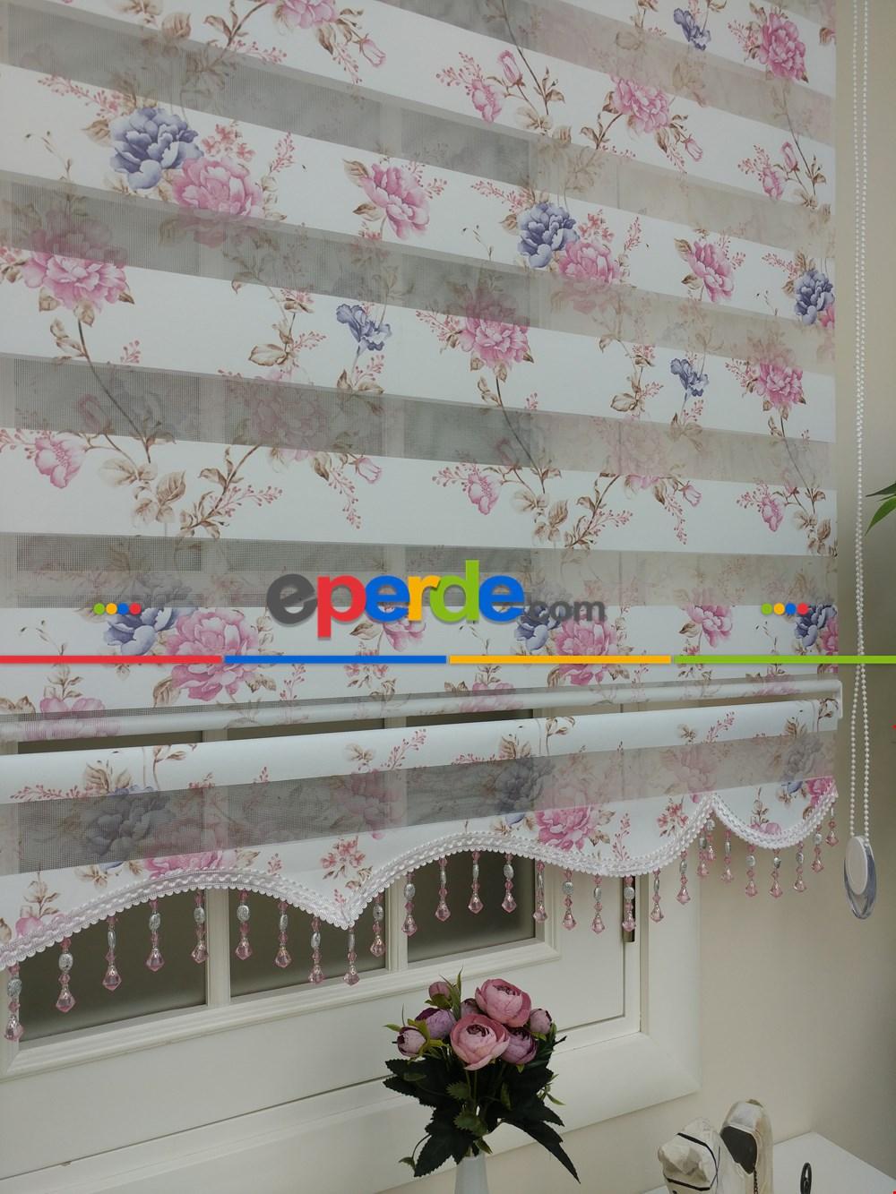 Zebra Perde - Çiçek Baskılı Çocuk, Genç Ve Oturma Odası