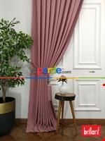 Brillant Keten Açık Vizon Renk Düz Fon Perde 180cm- Açık Vizon Gül Kurusu