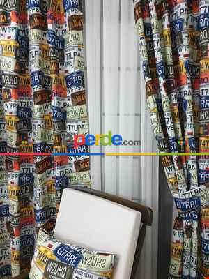 Pop Art Fon Perde K605 P - Kumaşı Kalındır Duck Bezi Değildir.- Lacivert-Yeşil-Mavi-Sarı-Beyaz-Çok Renkli