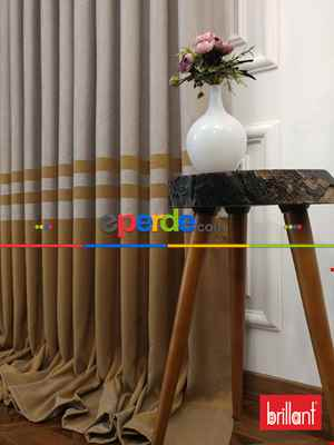 Brillant Süet Pano Fon Perde 180cm Yeni Sezon- Açık Camel