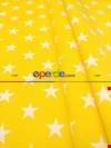 Sarı Yıldız Desenli Fon Perde ( Leke Tutmaz )