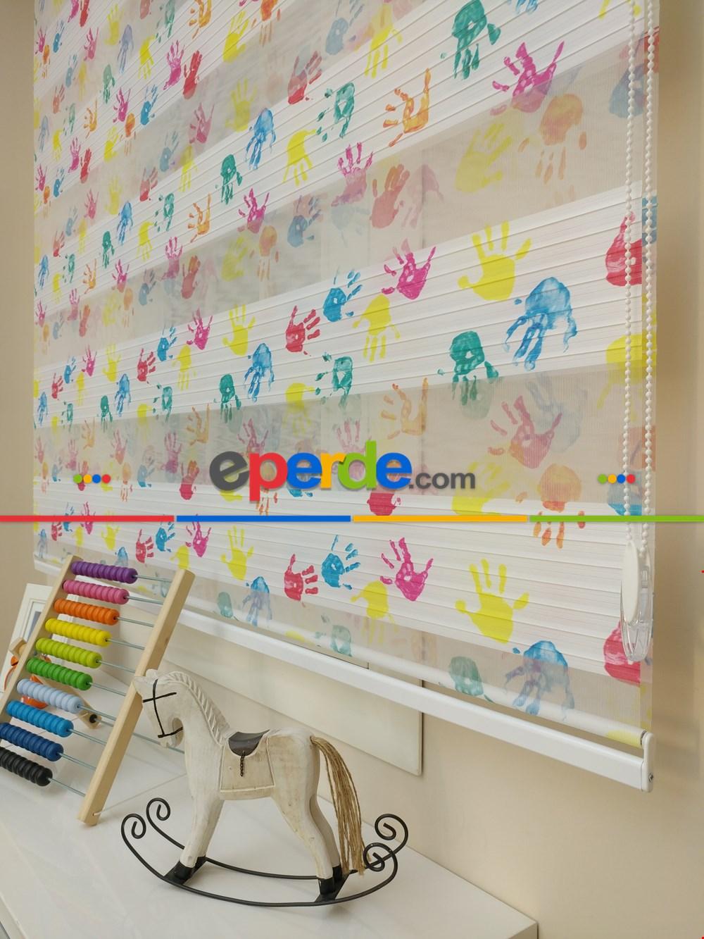 Çocuk Odası El Baskılı Dijital Zebra Perde