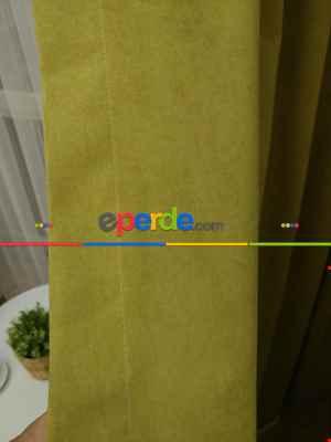 Fıstık Yeşil Düz Fon Perde 180cm En- Fıstık Yeşili