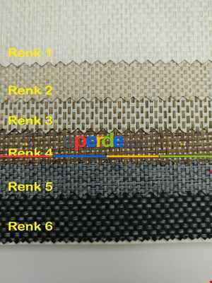 Hasır Stor Perde - Karartma Işık Geçirmeyen - 6 Farklı Renk- Siyah-gri-füme-antrasit-krem-bej-vizon Rengi-ekru-çok Renkli