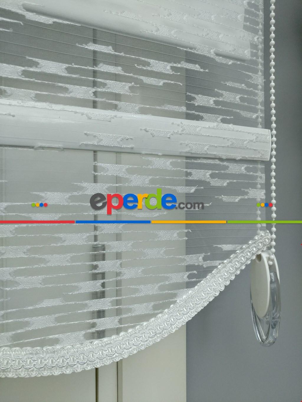 Beyaz Leke Tutmaz Yüksek Kalite Tül Stor Perde