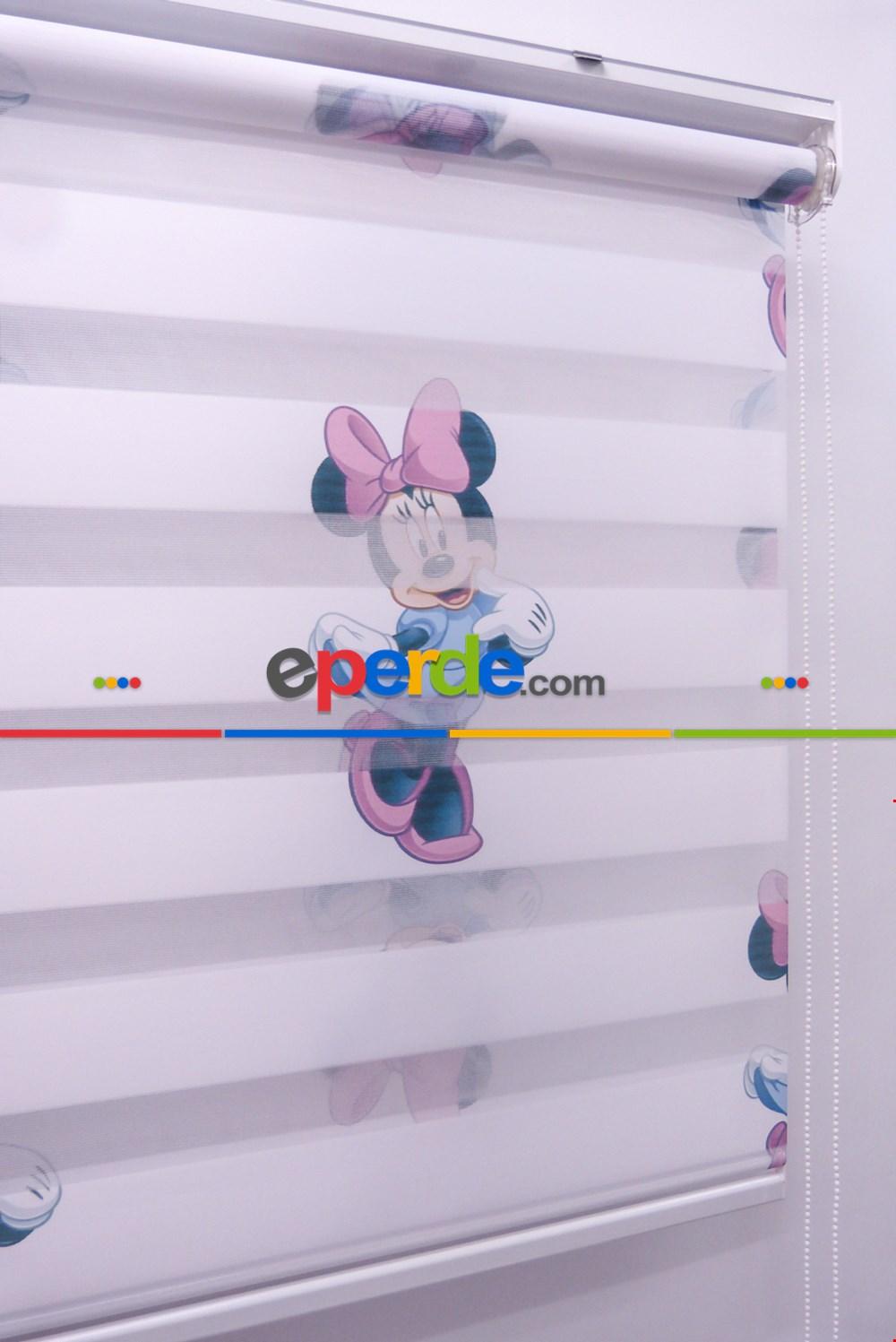 Minnie Mouse Zebra Perde