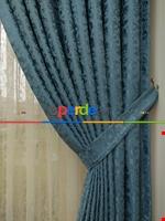 Toprak Rengi Duz Jakar Fon Perde (180)- Kahverengi Mavi