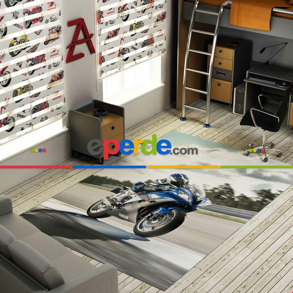 Yamaha Yarış Motoru Baskılı Halı