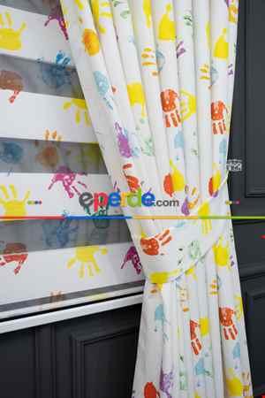Trend Bebek - Çocuk - Genç Odası Zebra Perde Modelleri 2021- Yeşil-Sarı-Mor-Menekşe Kırmızı-Hardal