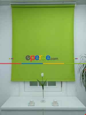 Fıstık Yeşili Saten Stor Perde- Fıstık Yeşili