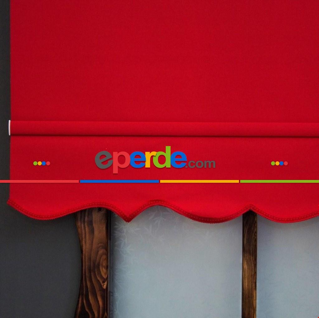 Stor Perde Leke Tutmaz Yıkanabilir Brillant 2021 Sezonu Kalın Mat Storperde A Kalite Kırmızı Renk
