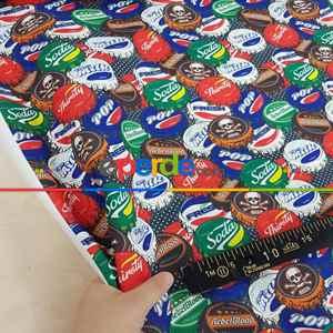 Çocuk Odası Fon - Pop-art Desenli Fon Perde Evm435 -p - Kumaşı Kalındır Duck Bezi Değildir.- Mavi