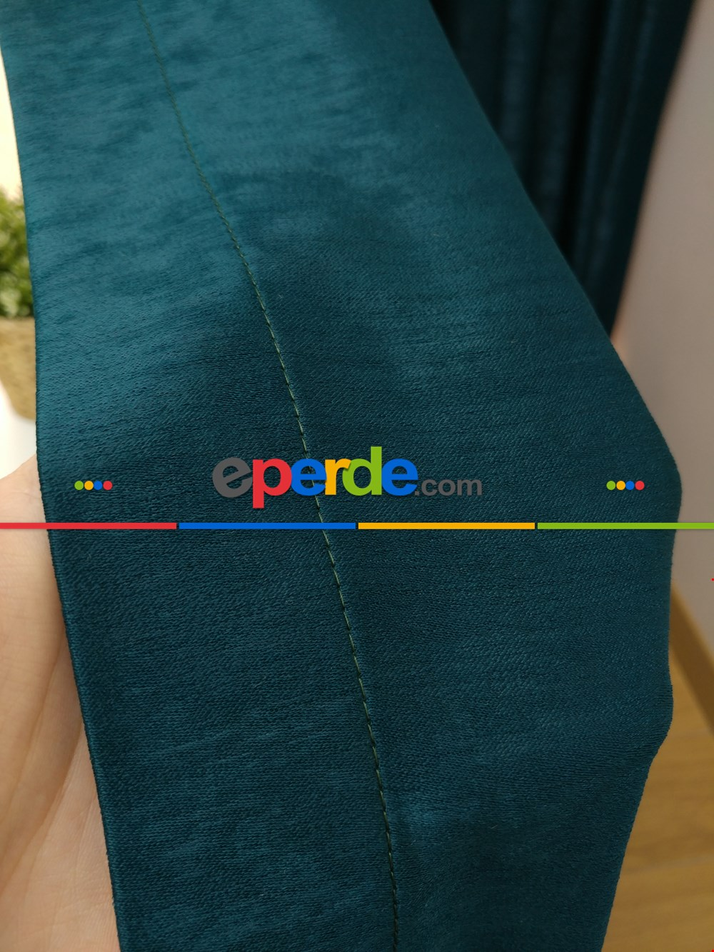 Soft Fon Perde- Yeşil Koyu Yeşil